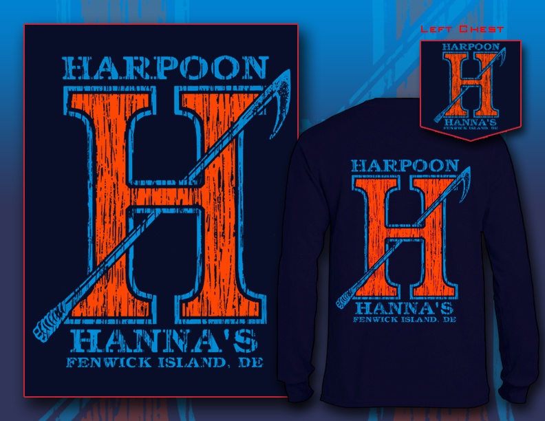 Harpoon Hanna's Long Sleeve Navy Orange