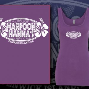 Hibiscus Tank Top Purple Berry
