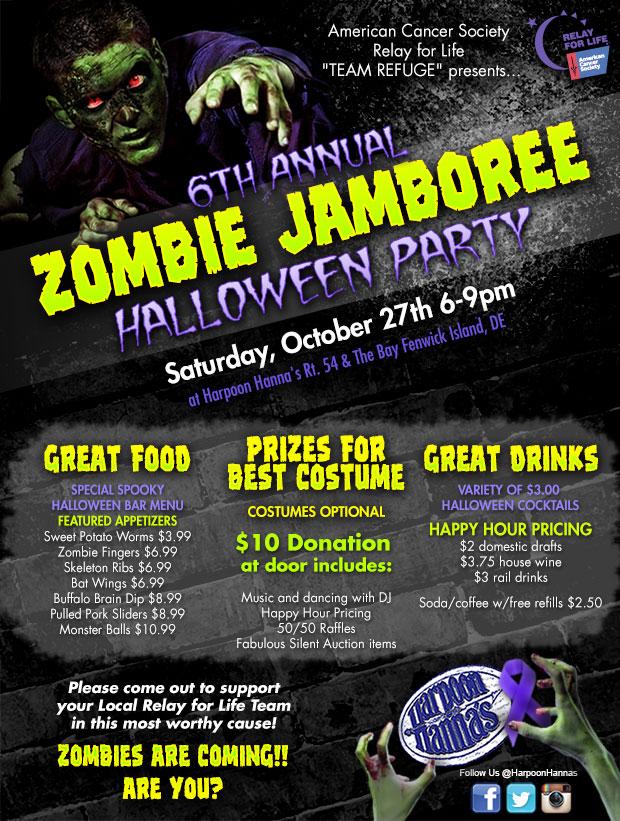 Zombie Jamboree Halloween Party | Seafood Restaurant Fenwick DE